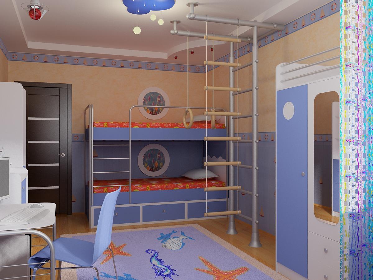 Простые дизайны детской комнаты